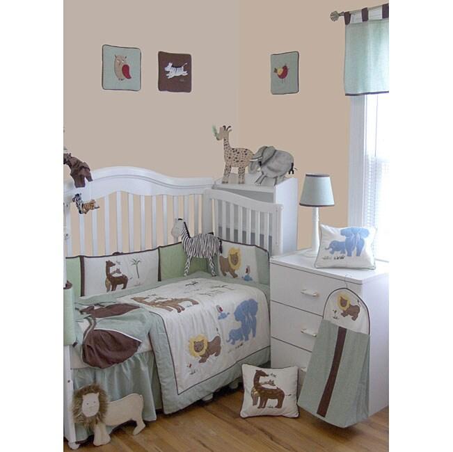 Babykins African Jungle 9 Piece Crib Bedding Set Free