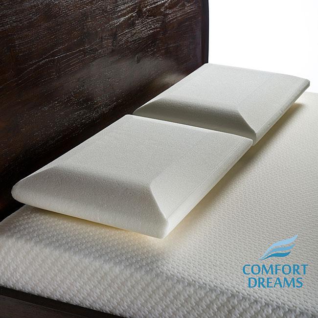 Comfort Dreams Crowned Memory Foam Standard Pillow (Set of 2)