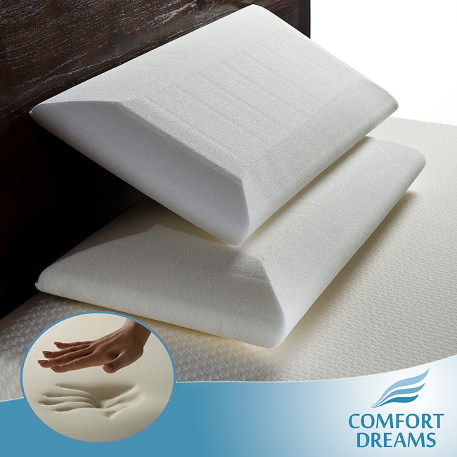 Comfort Dreams Crowned Classic King Size Memory Foam Pillow (Set of 2)