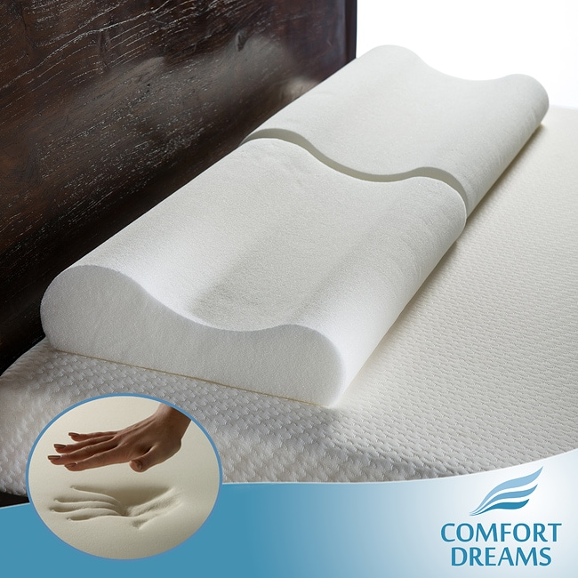 Comfort Dreams Oversized Memory Foam Contour Pillows (Set of 2)