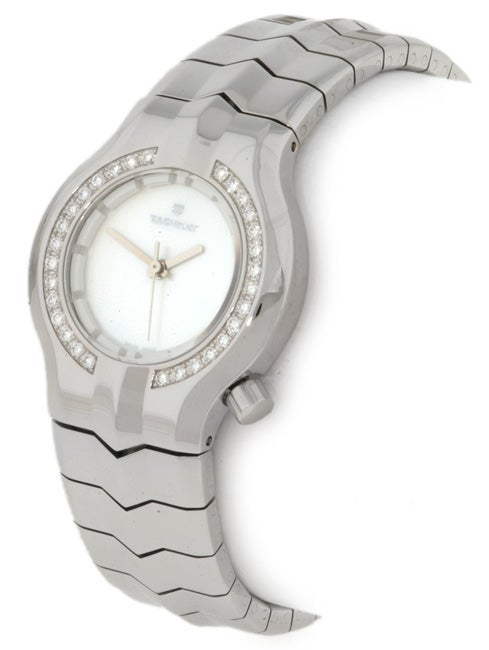 f9227b6e1a67 Shop Tag Heuer Alter Ego Women s Stainless Steel Diamond Watch - Free  Shipping Today - Overstock - 1520768