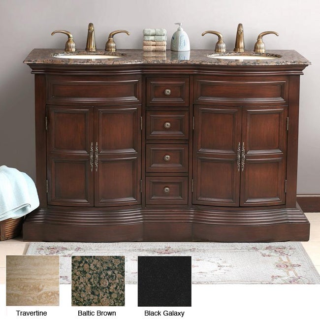 Shop Roderick 57 Inch Double Sink Bathroom Vanity Free