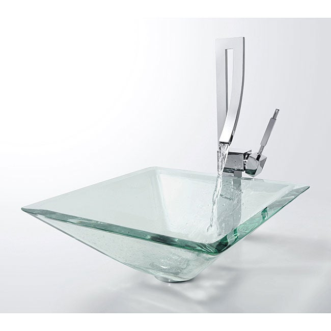 Shop Kraus Aquamarine Sink and Millennium Bathroom Faucet   Free Shipping  Today   Overstock   3276448. Shop Kraus Aquamarine Sink and Millennium Bathroom Faucet   Free
