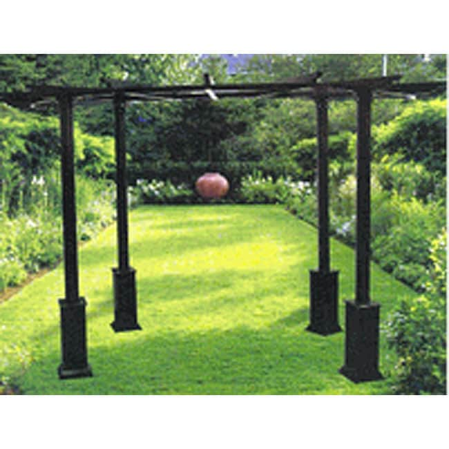 Arch Half Circle Black Pergola Gazebo Free Shipping Today 3278170