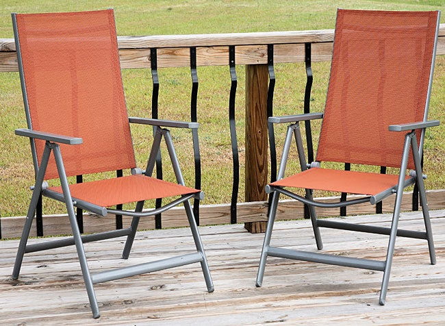 Reclining Folding Outdoor Sling Patio Chairs Set of 2 Free – Sling Folding Chair