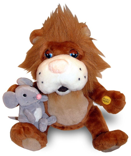 Plush Singing Lion and Mouse