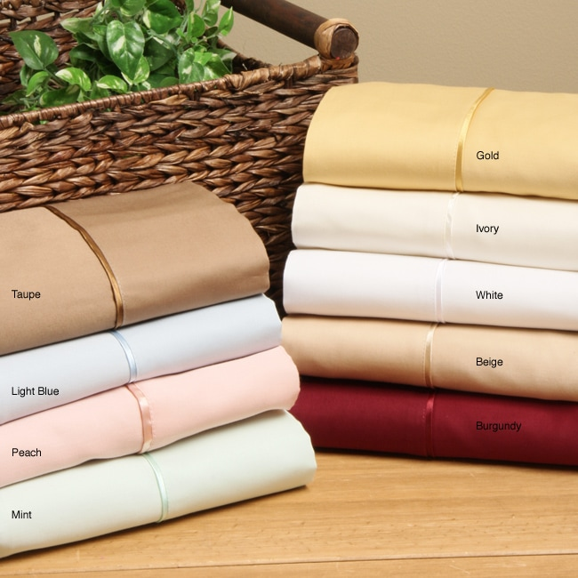 Superior Cotton 300 Thread Count Solid Sheet Set