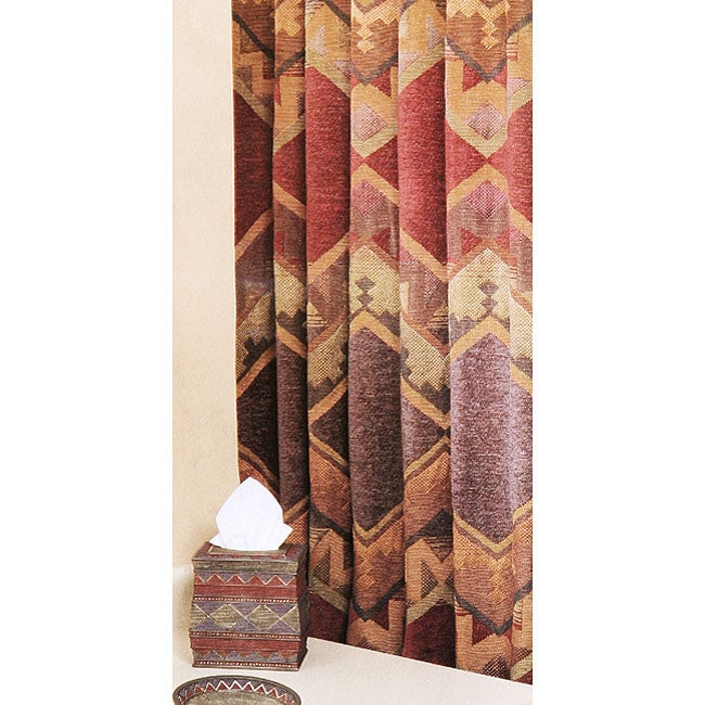 barranca red extra long shower curtain