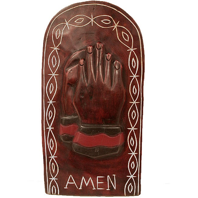 Handmade 'Amen' Carving (Ghana)