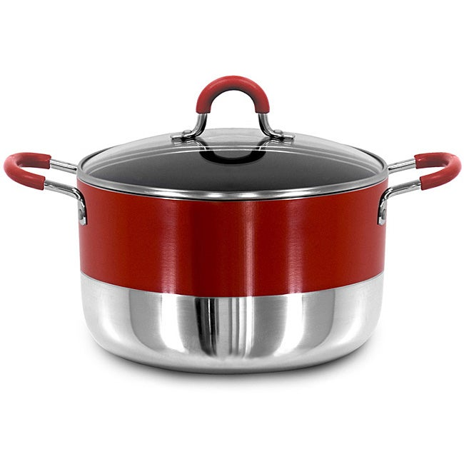 Two-tone Aluminum 8-quart Nonstick Dutch Oven - Thumbnail 0