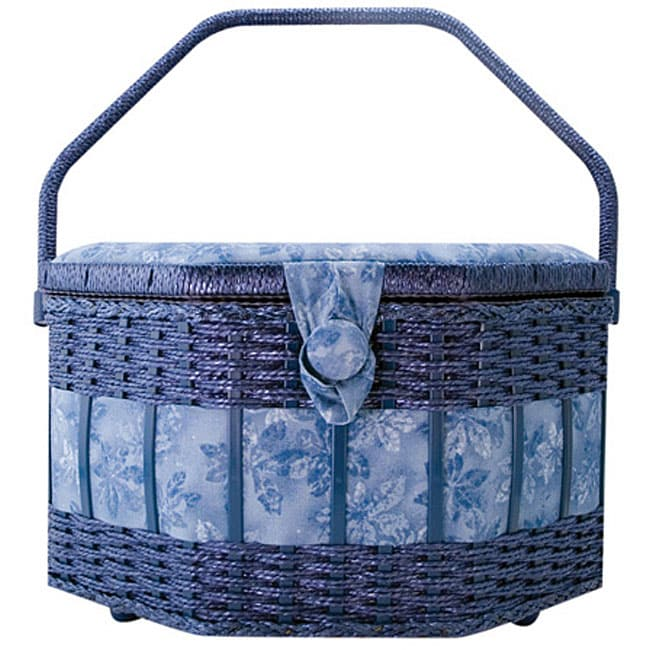 Suzy S Extra Large Octagon Sewing Basket Free Shipping