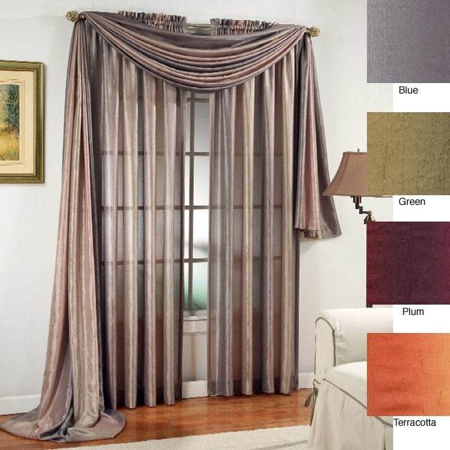 Crushed Ombre 6 Yard Window Scarf Valance Free Shipping On Orders Over 45 3290994