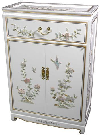Handmade White Lacquer Cabinet (China), Size 1-drawer