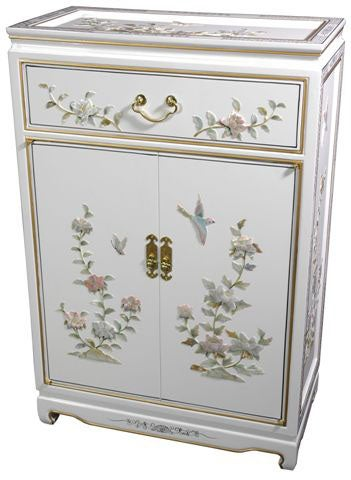 Handmade White Lacquer Cabinet (China)