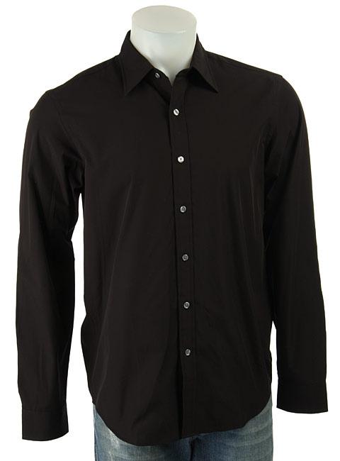 DKNY Men's Black Button-down Shirt