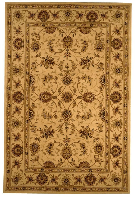 Safavieh Handmade Traditions Isfahan Ivory Wool and Silk Rug (6' x 9')
