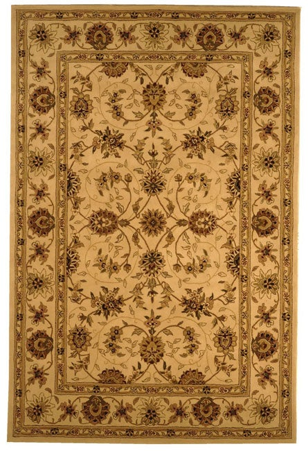 Safavieh Handmade Traditions Isfahan Ivory Wool and Silk Rug (6' x 9') - Thumbnail 0