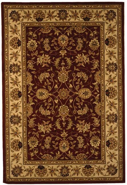 Safavieh Handmade Isfahan Burgundy/ Ivory Wool and Silk Rug - 5' x 8'