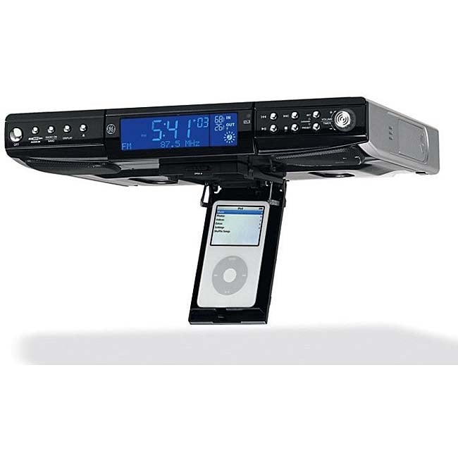 ge 75400 under counter cd radio and ipod dock - Radio Under Kitchen Cabinet
