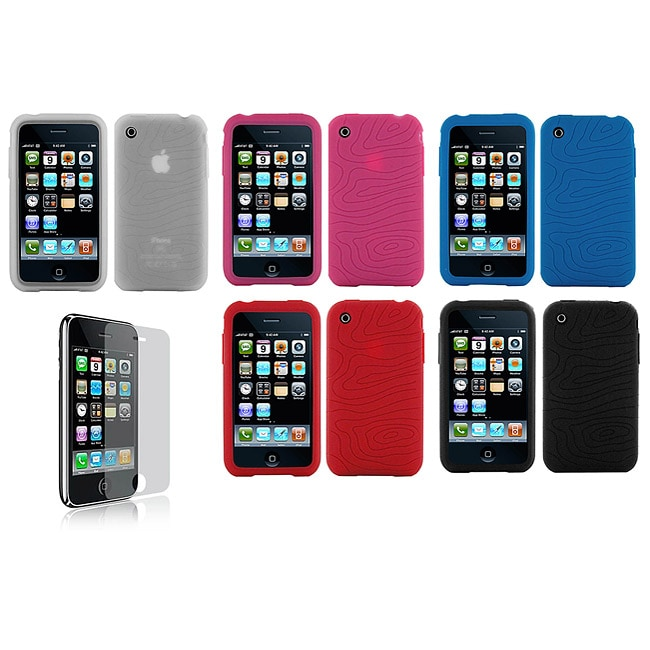 Apple iPhone 3G Silicone Case with Screen Protector - Thumbnail 0