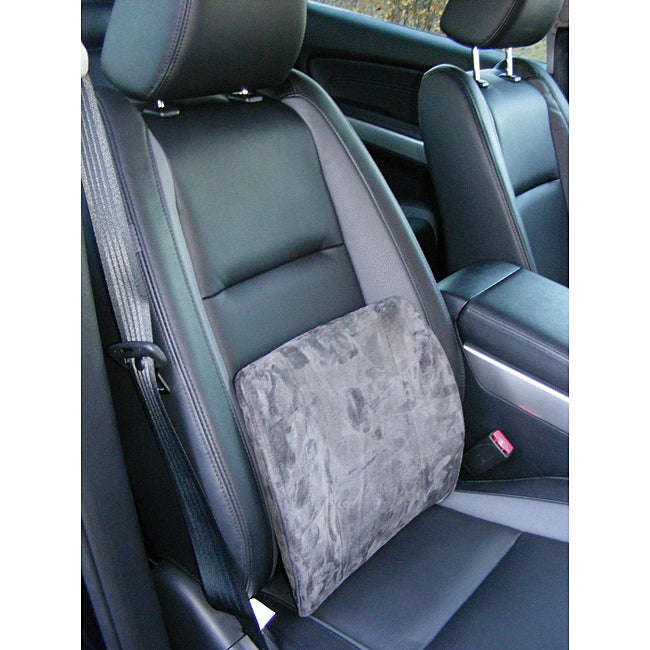 memory foam grey car seat lumbar support free shipping on orders over 45. Black Bedroom Furniture Sets. Home Design Ideas