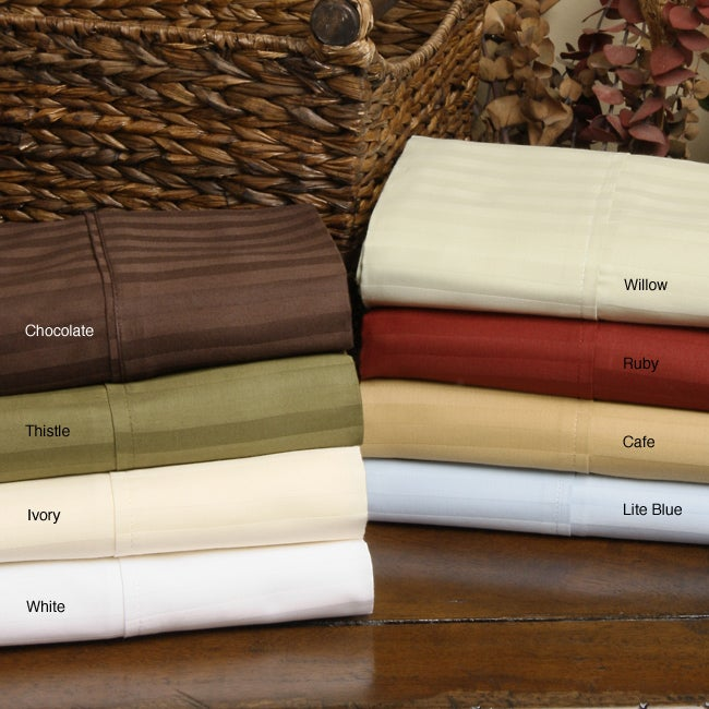 Regency 300 Thread Count Woven Stripe Sheet Set