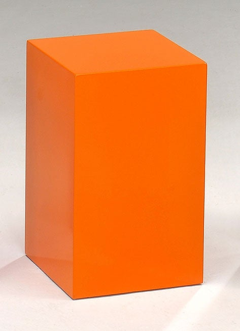 Orange Cube Stools Tables Set Of 2 Free Shipping Today