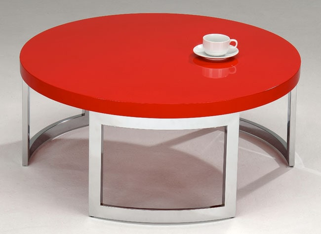 Red Round Coffee Table Free Shipping Today 11406343