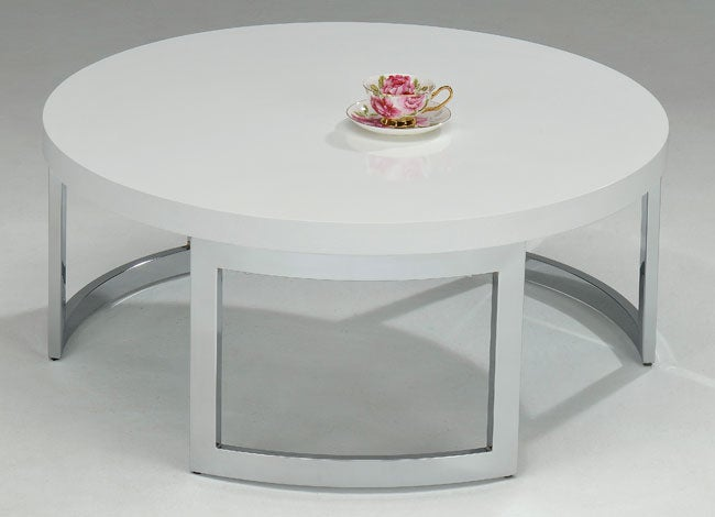 White Round Coffee Table - White Round Coffee Table - Free Shipping Today - Overstock.com