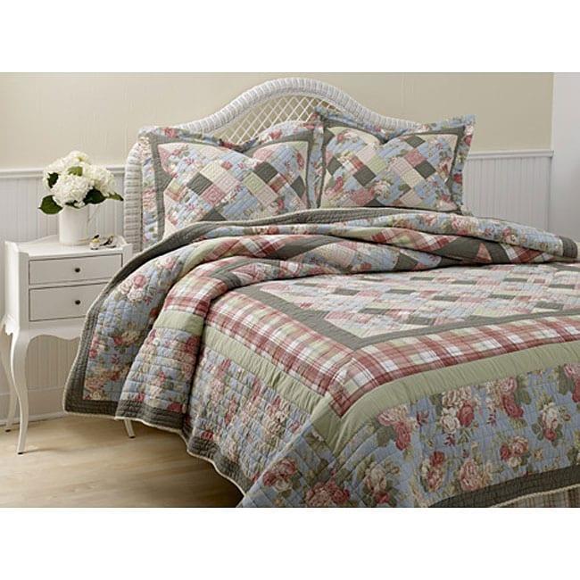 Laura Ashley Brookshire Floral Patchwork Quilt Set