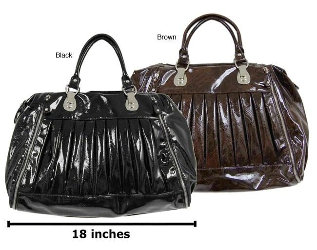 Chocolate New York Double Handle Oversize Handbag