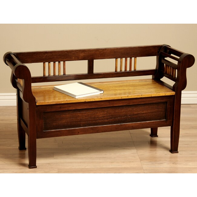 Shop Kings Lift Top Wood Storage Bench Indonesia Free