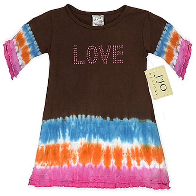Sweet Jojo Designs Baby Girl's 'Love' Tie-dye Dress