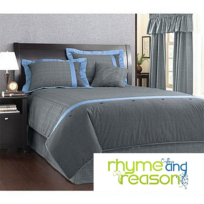 Menswear Plaid 6-piece King-size Comforter Set