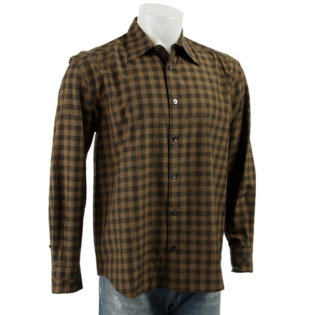 677ff280f Shop Axis Men s Long-sleeve Checkerboard Woven Shirt - Free Shipping Today  - Overstock - 3320058