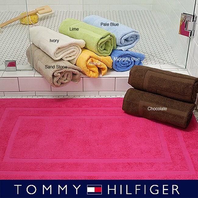 Tommy Hilfiger Luxury Soft 2 Piece Bath Mat Set Free