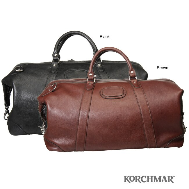 Shop Korchmar Leather Duffle Bag - Free Shipping Today - Overstock ... 494060445a351