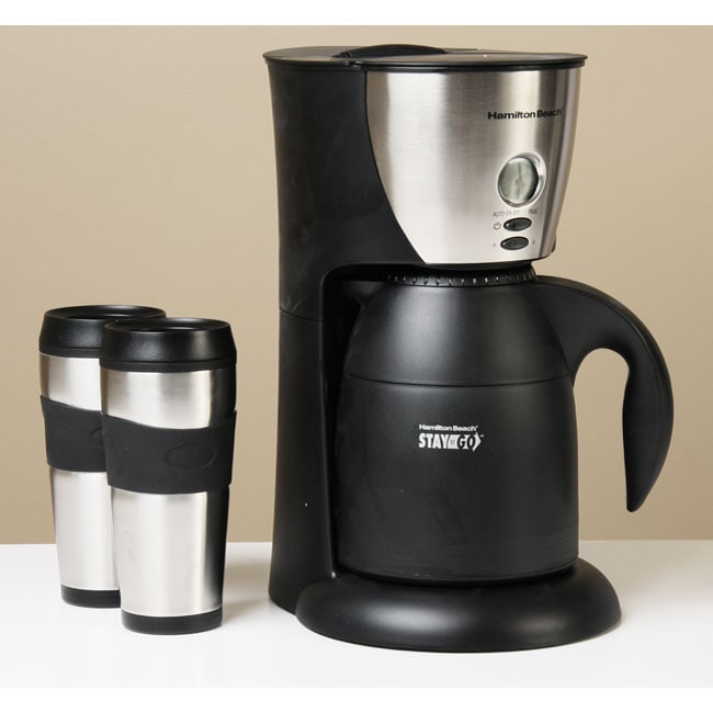 Kitchenaid Coffee Maker Carafe Leaks : Hamilton Beach Stay or Go Thermal Coffeemaker - Free Shipping Today - Overstock.com - 11432862