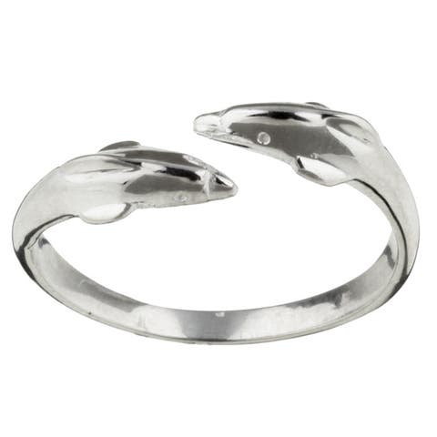 Sterling Essentials Sterling Silver Dolphin Toe Ring