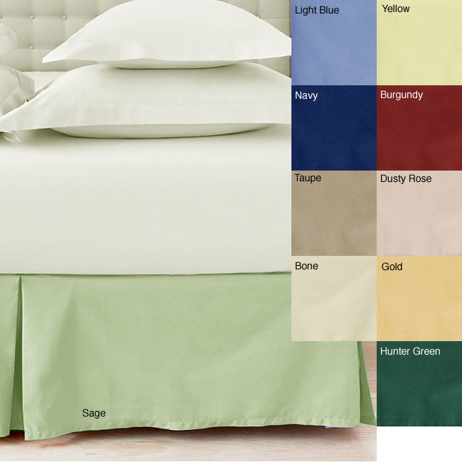 Solid Color 205 Thread Count Cotton Bedskirt