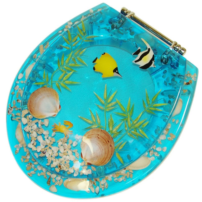 Clear Acrylic Toilet Seat With Tropical Fish Free
