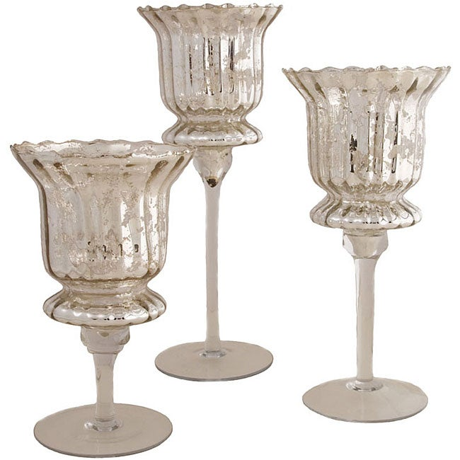Silver Candle Goblets (Set of 3)