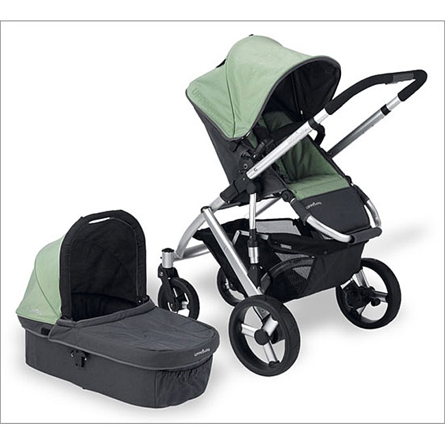 Shop Uppababy Vista Stroller System In Carlin Green Free