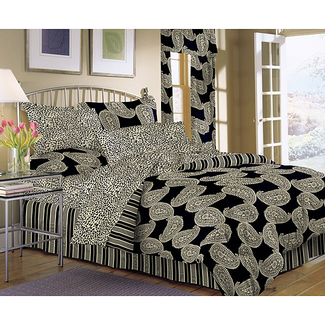 Stone Cottage Flourish Black 8-piece Bed in a Bag
