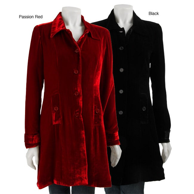 Lily Women S Velvet Long Jacket Free Shipping Today