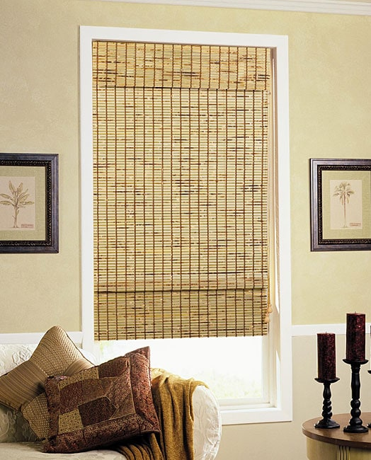 Shop Natural Woven Bamboo Shade 27 In X 72 In Free Shipping On