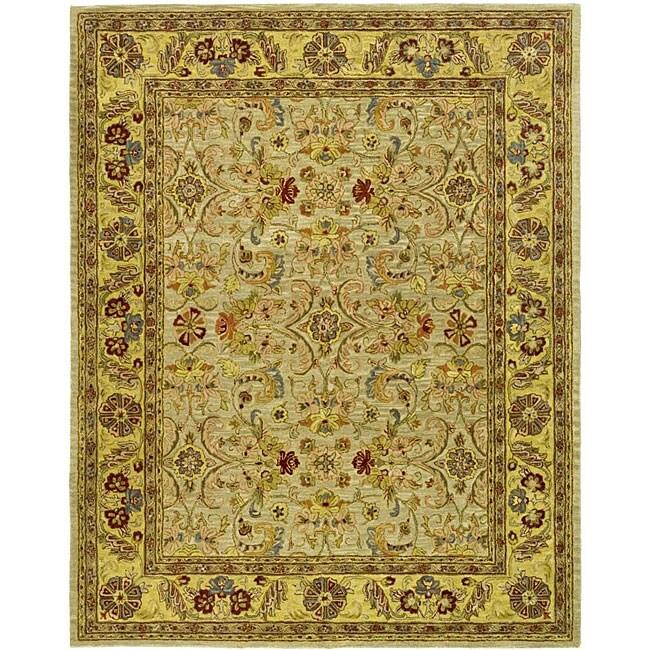 Safavieh Handmade Classic Kasha Gold Wool Rug - 9'6 x 13'6
