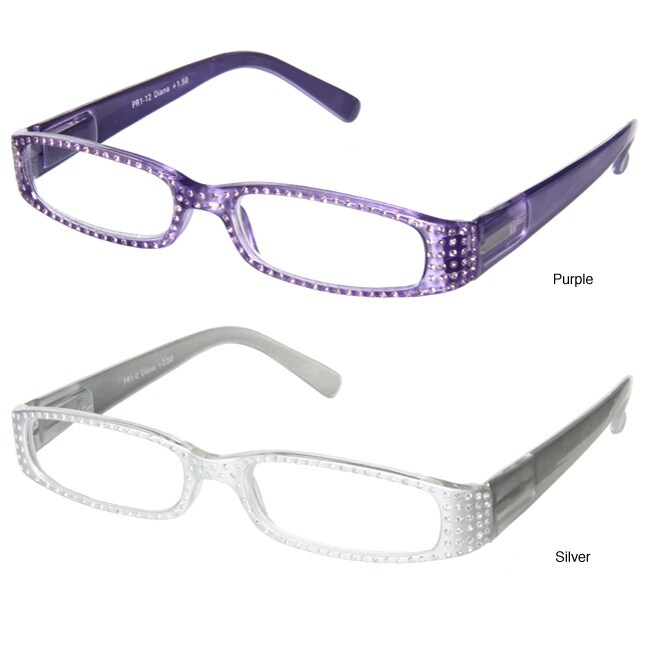 Glasses Frames With Bling : Peppers Diana Rhinestone Encrusted Reading Glasses ...