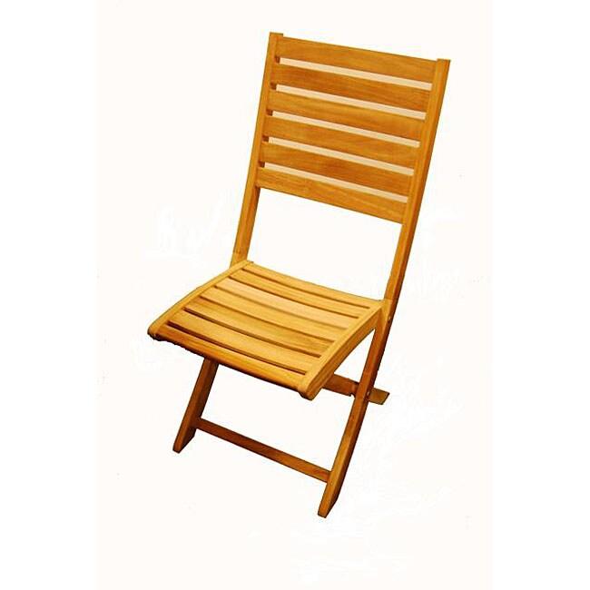 St. Bart Teak Folding Patio Chair (Set of 2)