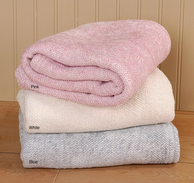 d076e42a8f Shop Bambino Two-piece Chenille Baby Blanket Set (Pink) - Free Shipping On  Orders Over  45 - Overstock.com - 1562519